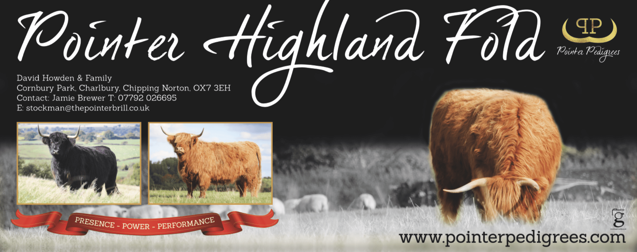 Photography and banner design for Pointer Highlands